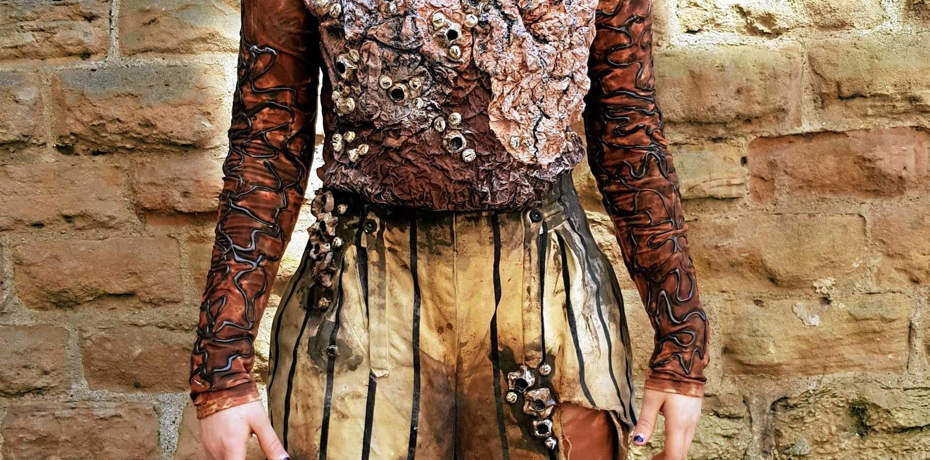 LEFT: Annalise Burton's mythical creature costume.