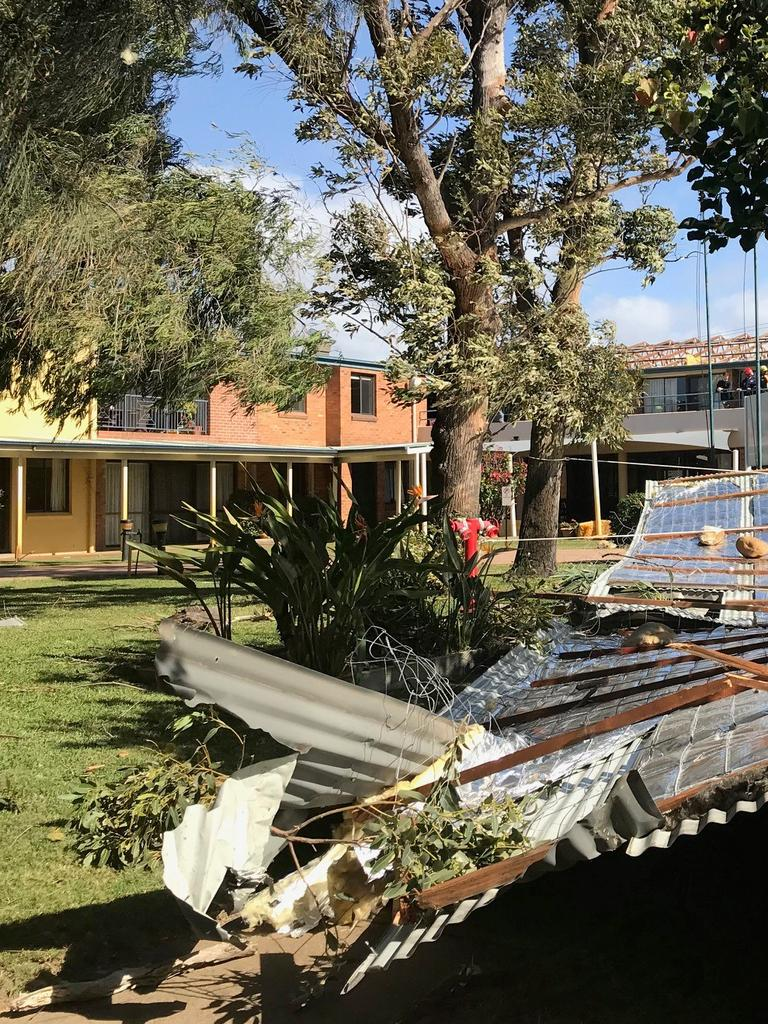 Stockton Nursing Home in Newcastle lost its roof.