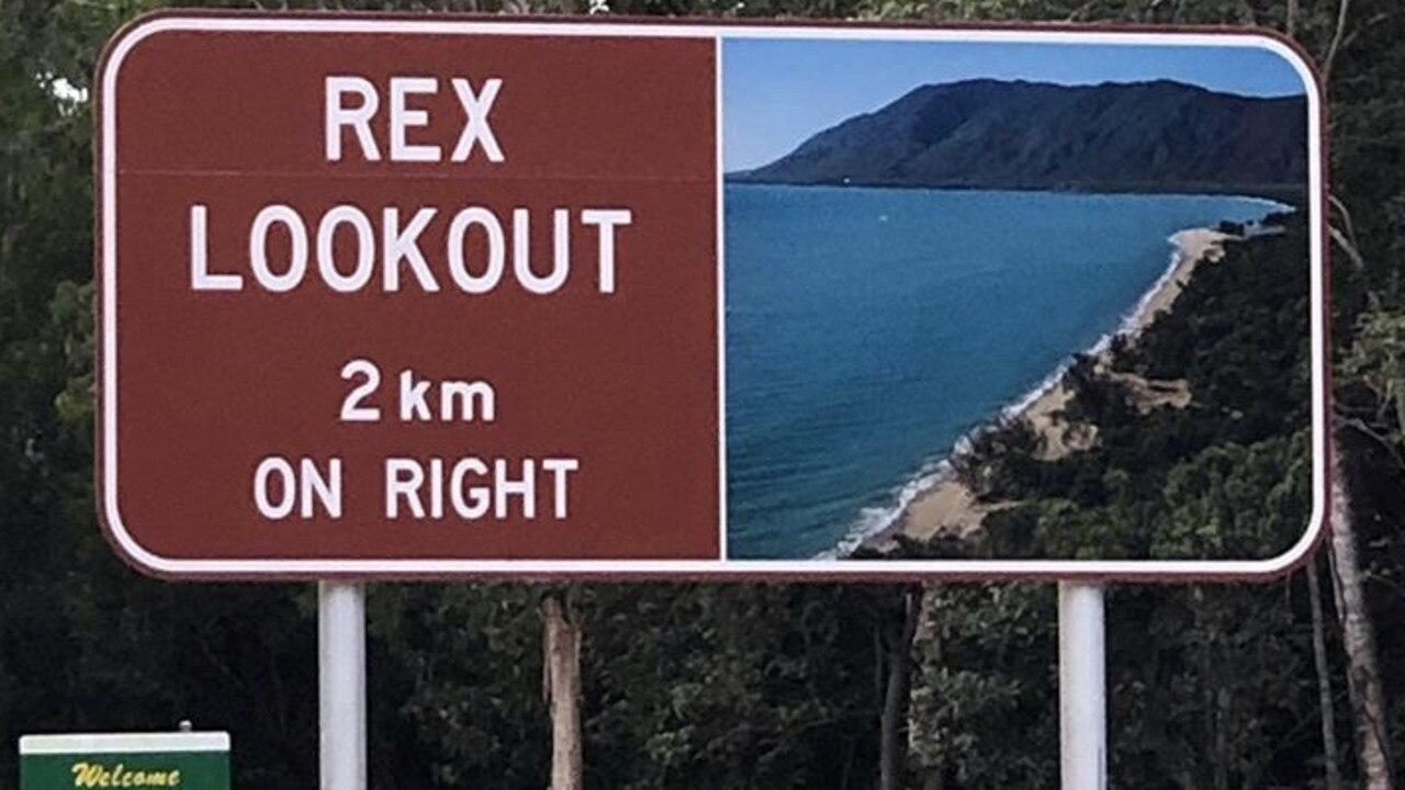 Hartley's Crocodile Adventures boss Angela Freeman worries a new tourist sign for Rex Lookout is encouraging motorists to illegally turn right to get to the lookout, instead of turning left for the car park.