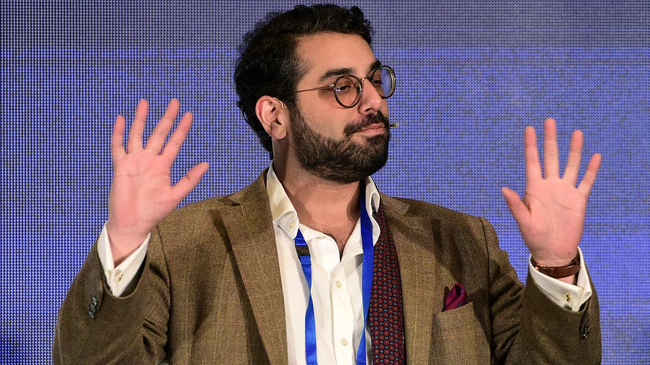 British political activist Raheem Kassam has offended the left wing while visiting Australia. Picture: AAP/Bianca De Marchi