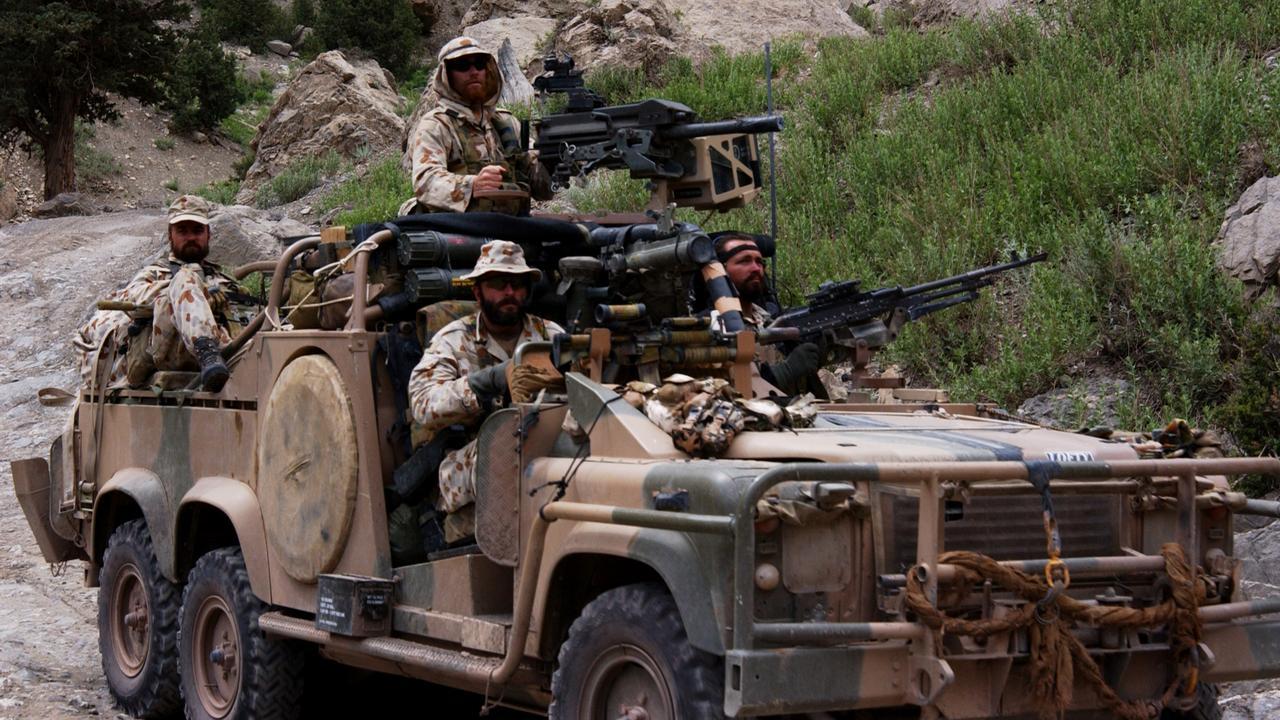 An SAS patrol in Afghanistan
