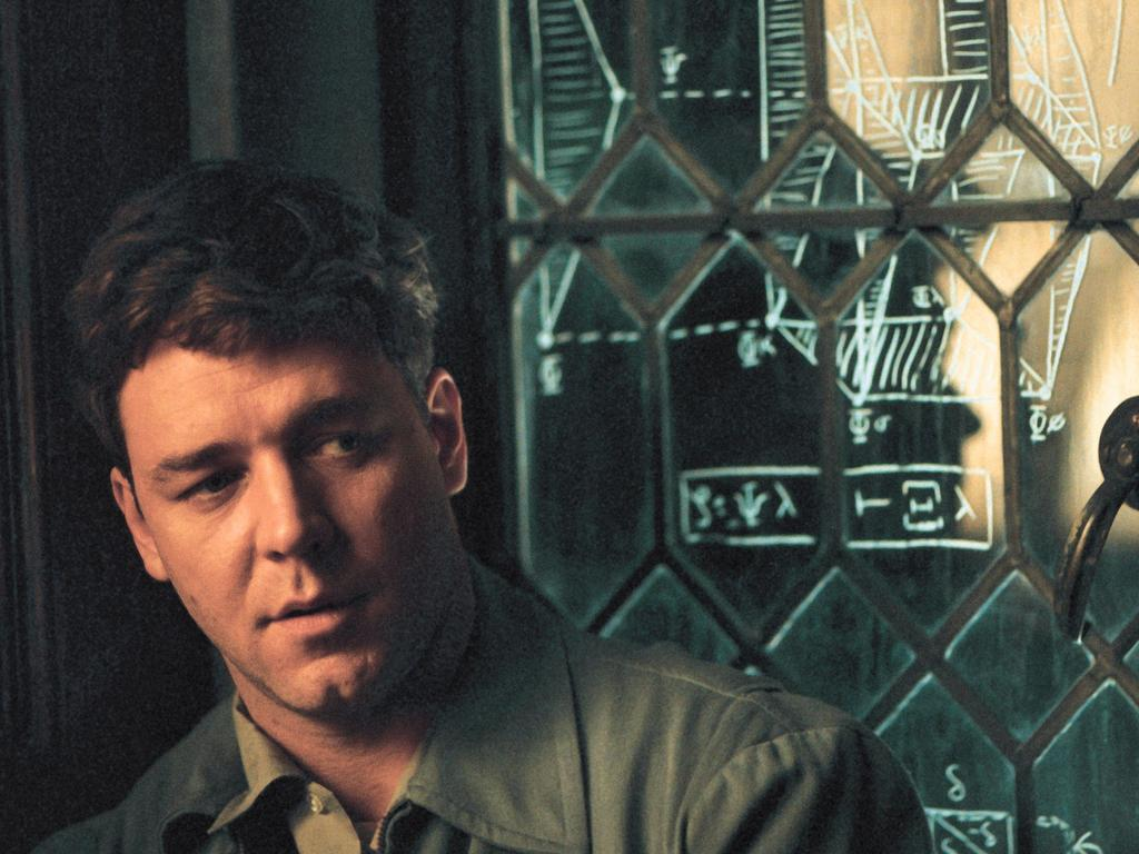 Crowe in a scene from A Beautiful Mind.