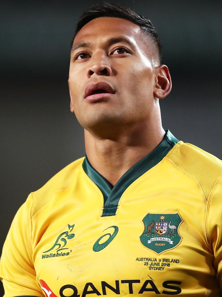 Israel Folau has been banished from the Wallabies.
