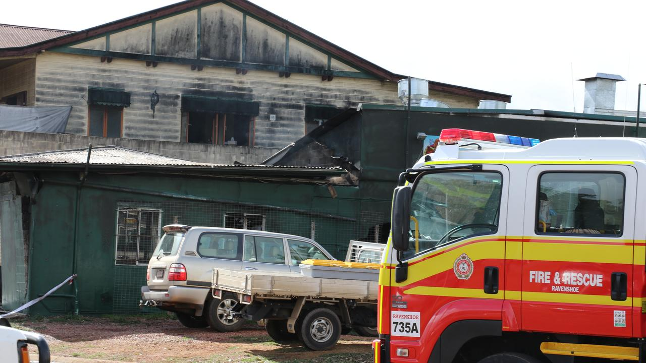 The aftermath of the explosion at Serves You Right cafe in Ravenshoe. PHOTO: Katherine Kokkonen