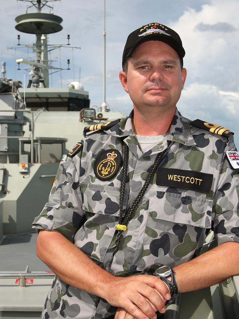 Commander Brett Westcott. Picture: ADF