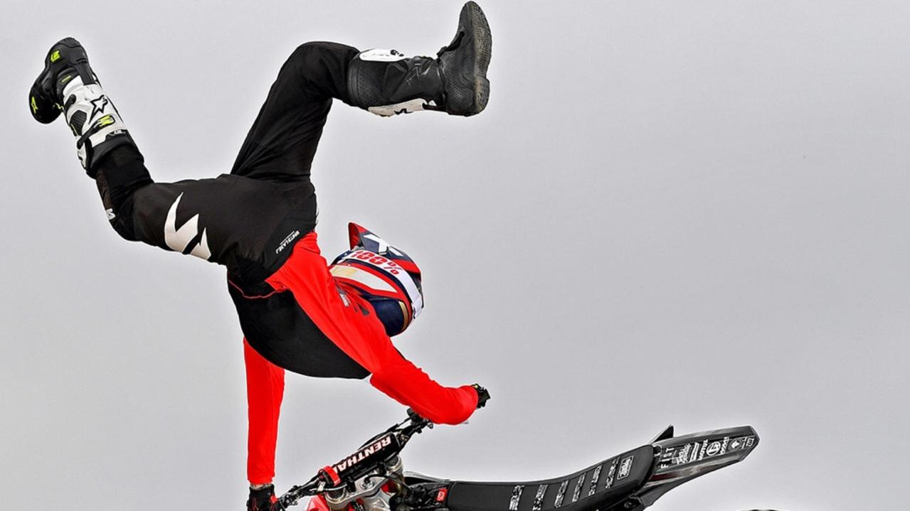 FLYING HIGH: Jake Bowen will ride with the Crusty Demons this Saturday night in Coffs Harbour.