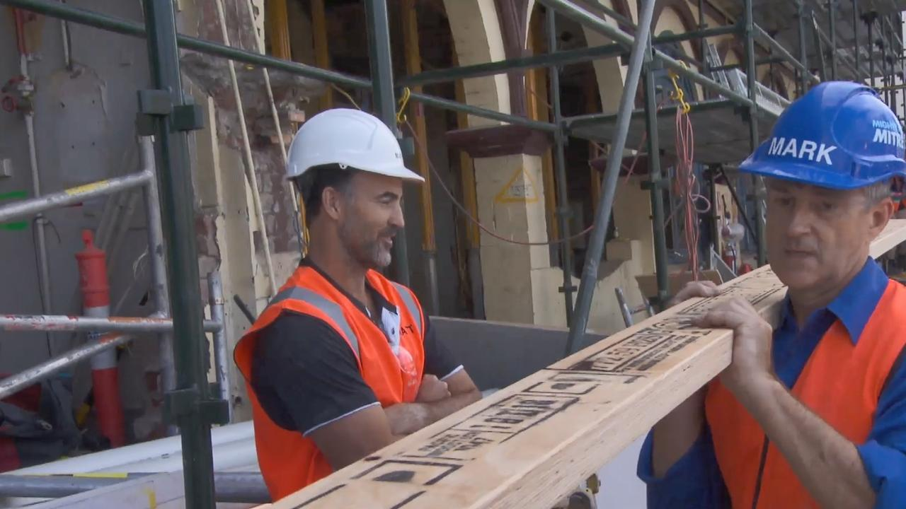 Matt is so unimpressed that Mark has ordered his timber early he uses the C word.