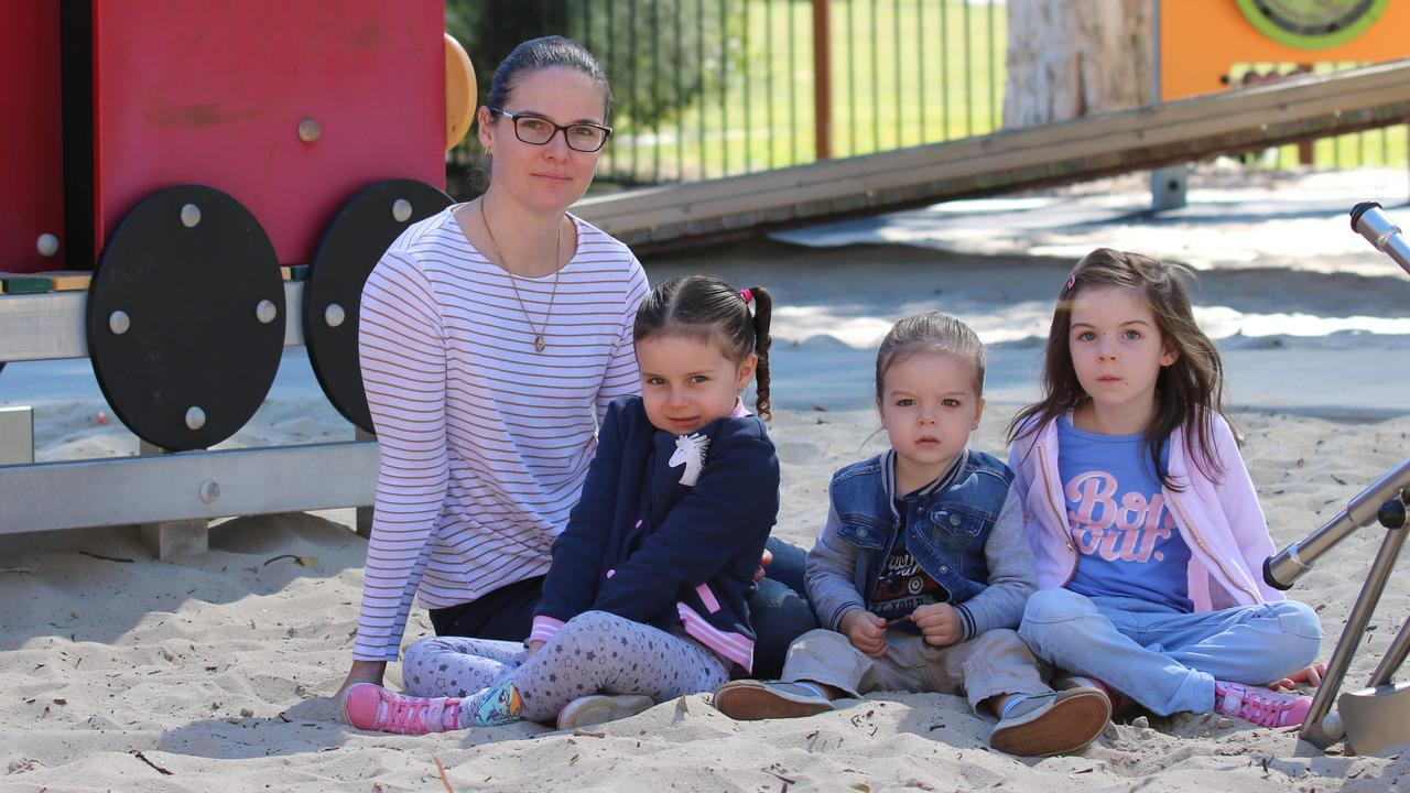 SAFETY CONCERN: Erin Toth regularly takes her children Nadia, Silas and Layla to Grahame Stewart Park at Currimundi. Photo: Lacee Froeschl