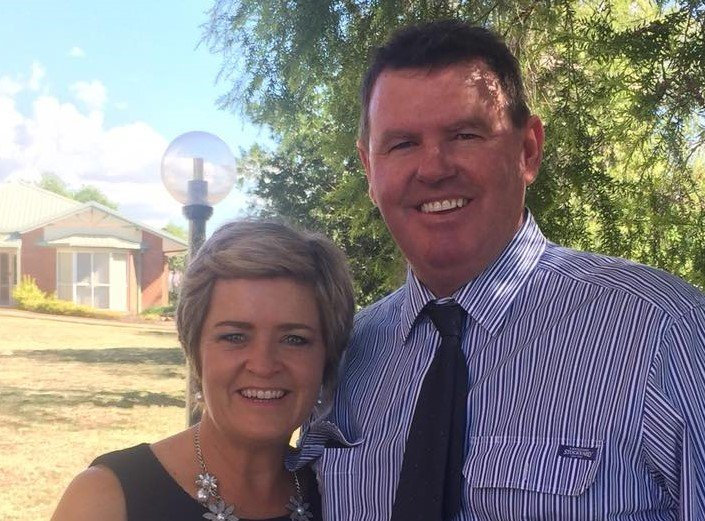 TRAGIC LOSS: Beloved wife, mother, hairdresser and countrywoman Nancy Davies has died from injuries sustained after she was struck in the face by a horse on a property 25km outside of Wandoan over the weekend. Nancy is pictured with her husband Mike Davies.