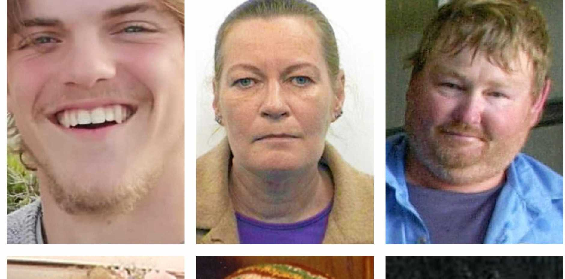 MISSING PERSONS: Theo Hayez, Ellen Wilson, Michael Endres, Bronwyn Winfield, Jeffrey Neville and Malcolm Briggs.