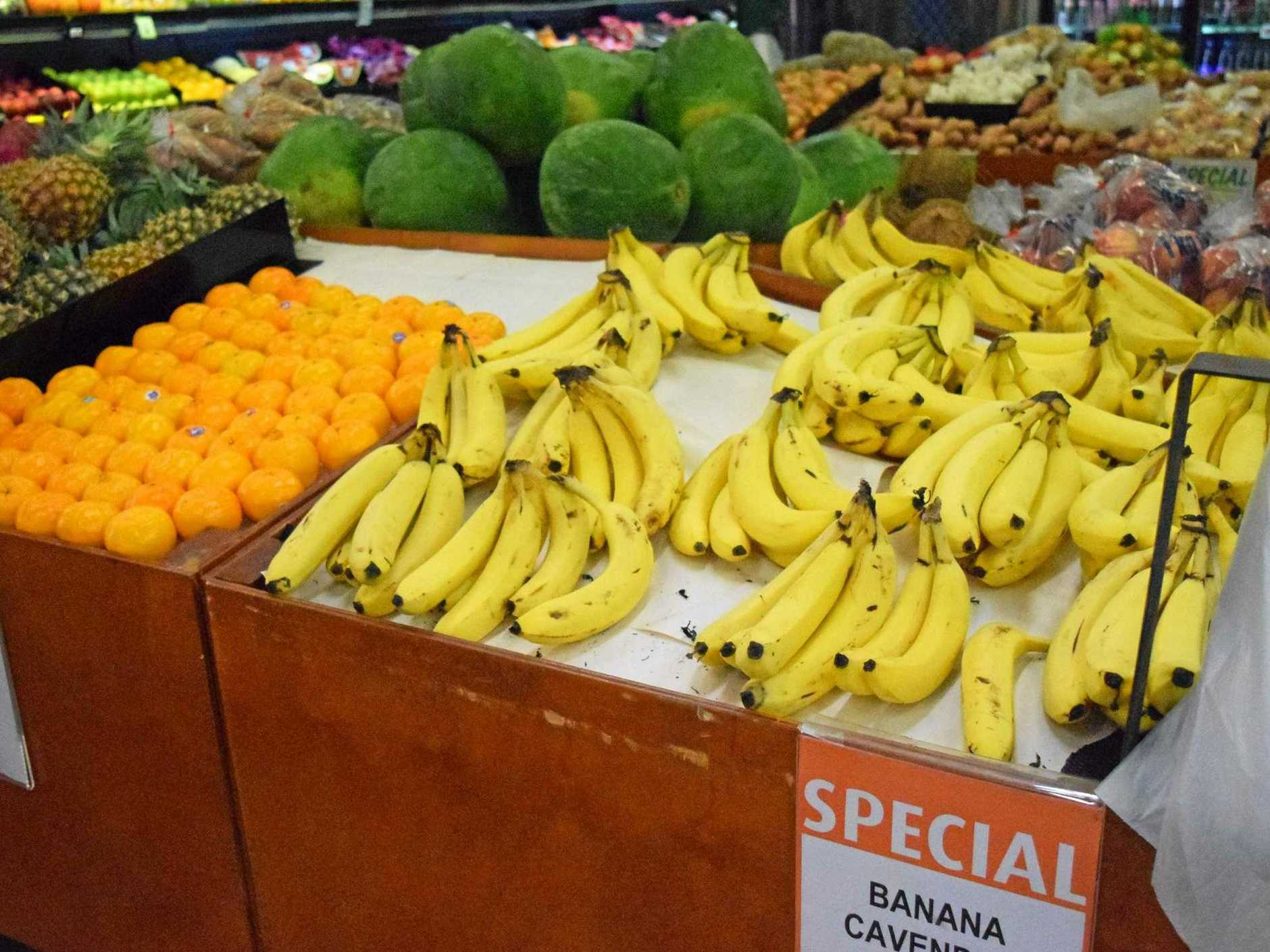 File image of bananas in a supermarket.