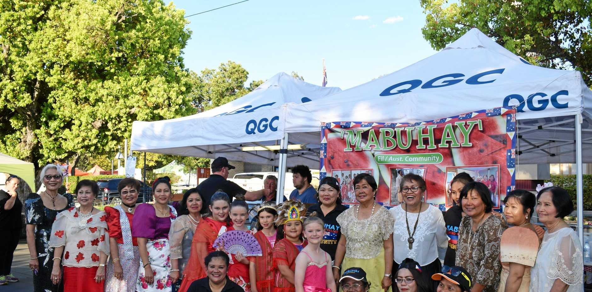 CELEBRATING CULTURE: Fashion and food from Mabuhay Filipino Community at last year's One Long Table.