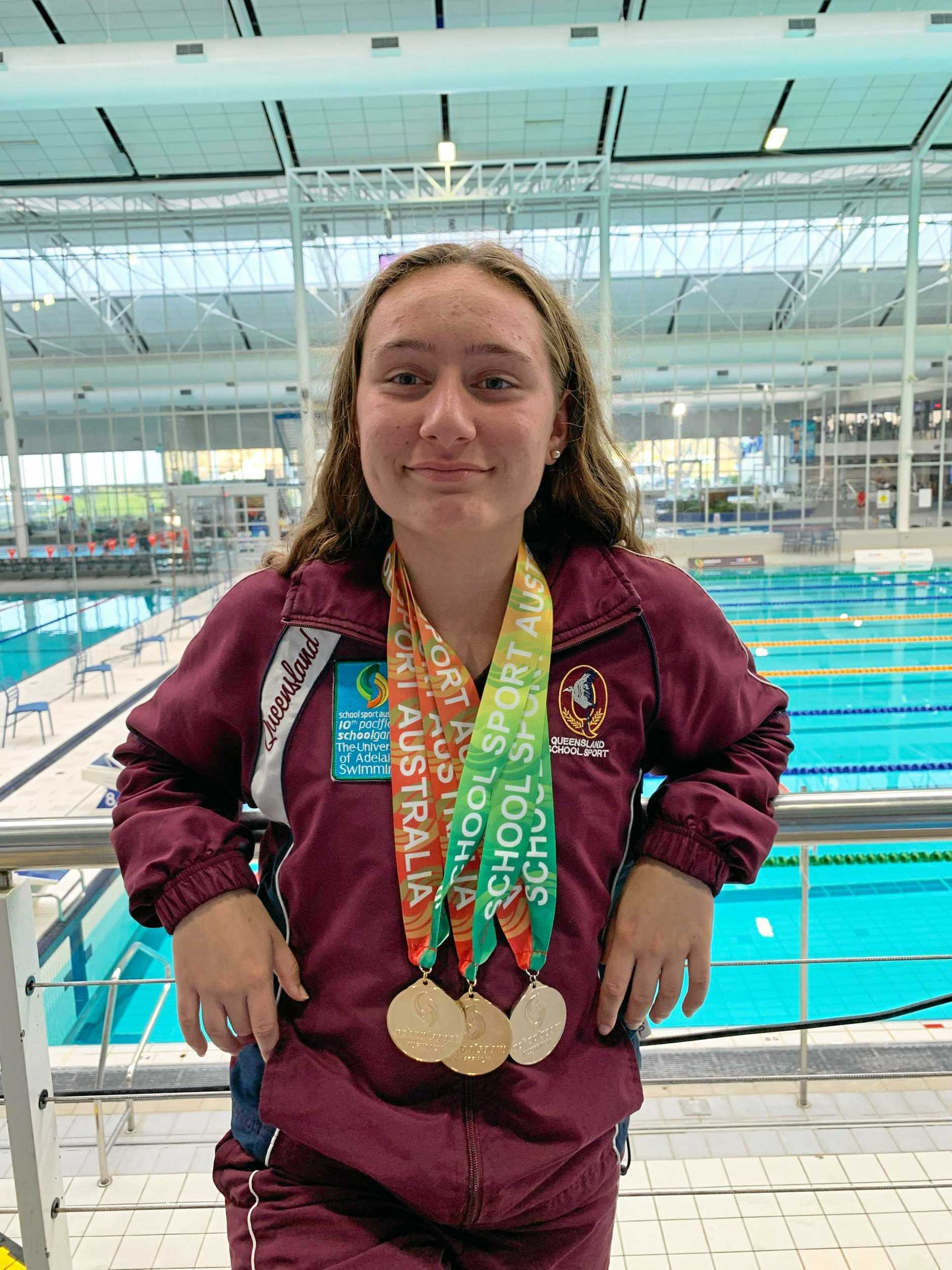UNSTOPPABLE: The success just keeps coming for Waterworx and Queensland swimmer Mercedes Siganto who bagged yet another impressive medal haul at the School Sport Australian Championships.