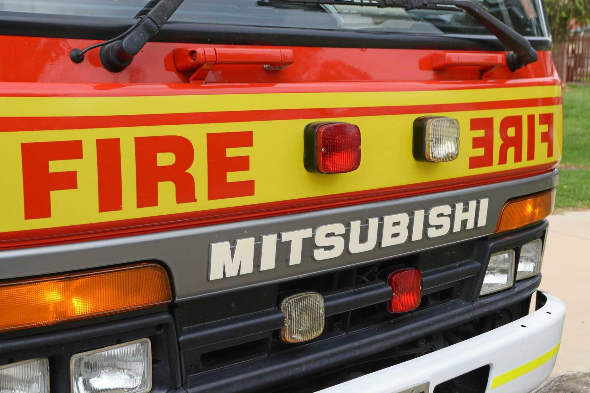 TRUCK FIRE: Emergency services attend a truck fire near Massie.
