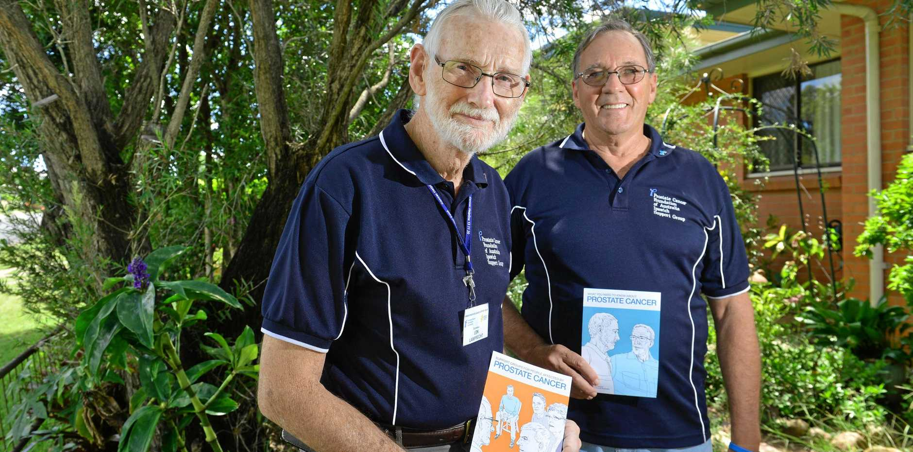 JOIN THEM: Len Lamprecht and Dennis Ellis from the Prostate Cancer Foundation of Australia Ipswich Support Group. They are looking for new members to join the group.