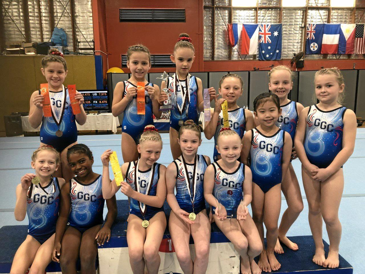 Photo 4: WAG level 3Millan Ibbotson, Laynie Mallie-Roberts, Elle-Jaye Attard, Lucie Burtson-Johnston, Maddison Young, Taylor Bradly, Cadence Cairns, Catherine Manhertz, Isabella Markham, Brialan Brown, Lucy Glass, Zia Aguilon