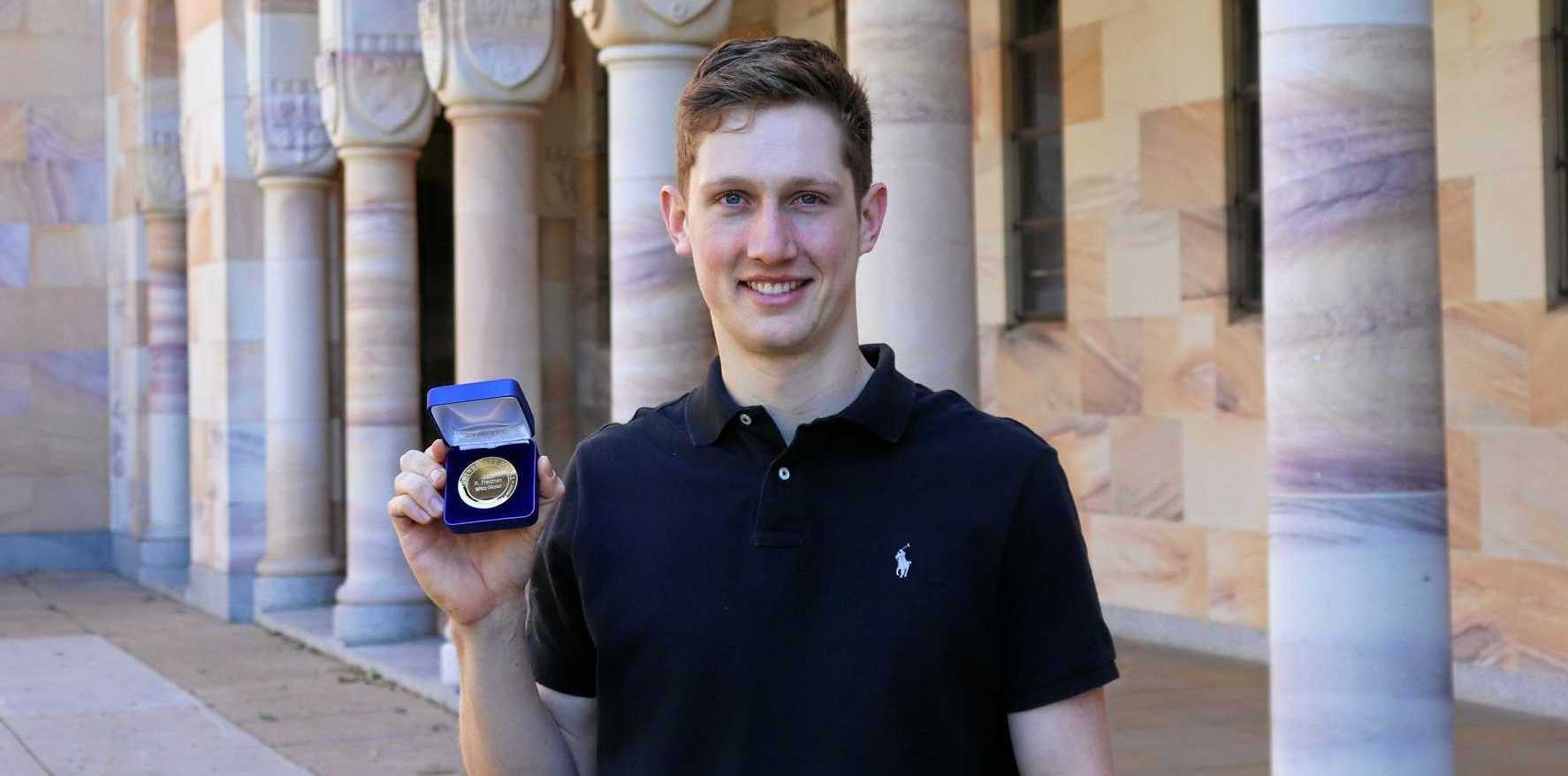 TOP MARKS: Gilldora's Henry Fredman has won a University Medal from UQ for outstanding academic achievement in the field of physiotherapy.