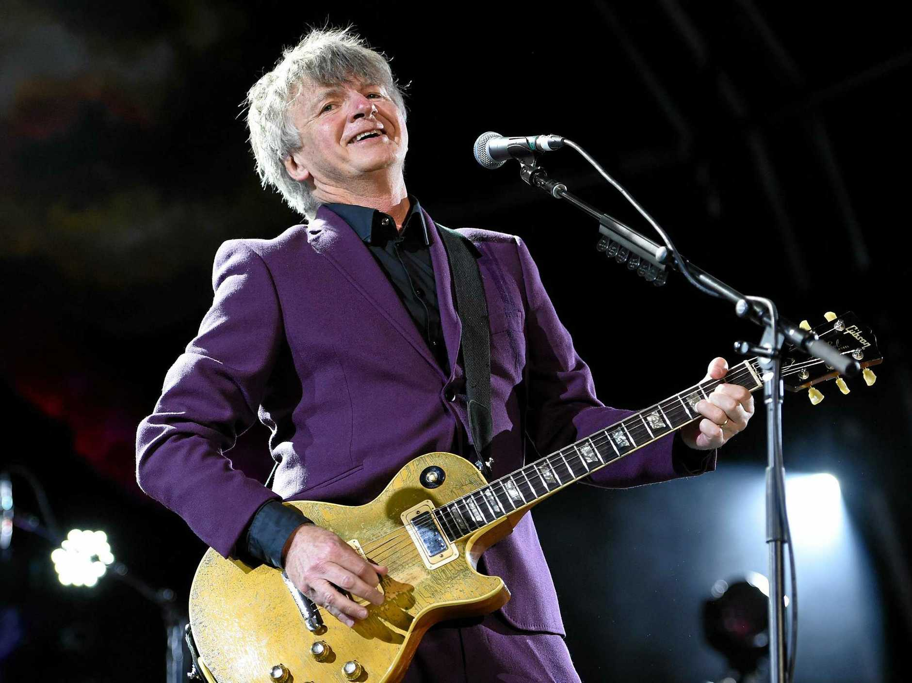 COMING BACK: Neil Finn of Crowded House performs during their 20th anniversary show at the Sydney Opera House, in Sydney, Thursday, Nov. 24, 2016.