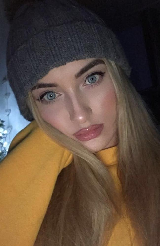 Bernadette Hagans, 22, thought she had bumped her leg when she started to feel severe pain. Picture: Instagram