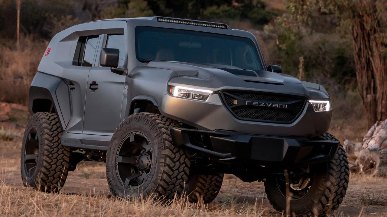 Rezvani Tank X is based on the new Jeep Wrangler.