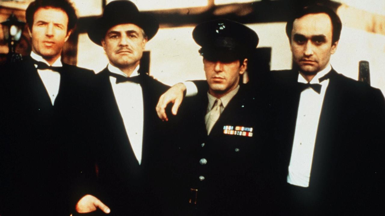 Al Pacino, Marlon Brando, James Caan and John Cazale in The Godfather.