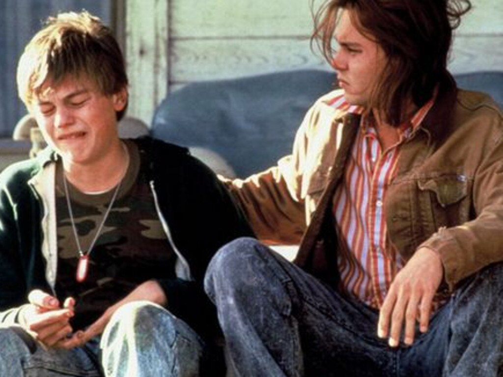 Leonardo DiCaprio as Arnie Grape and Johnny Depp as Gilbert Grape in 'What's Eating Gilbert Grape?', the 1993 film that catapulted DiCaprio to stardom.