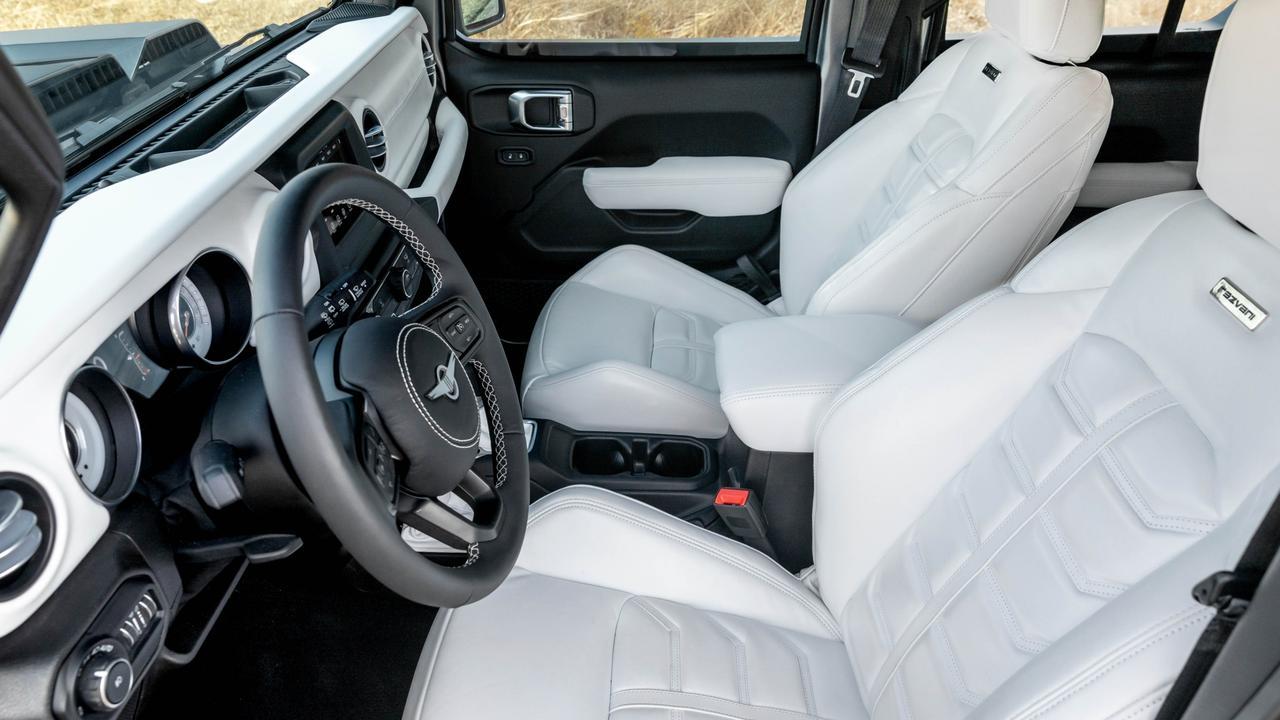 The Rezvani Tank X has a plush interior.