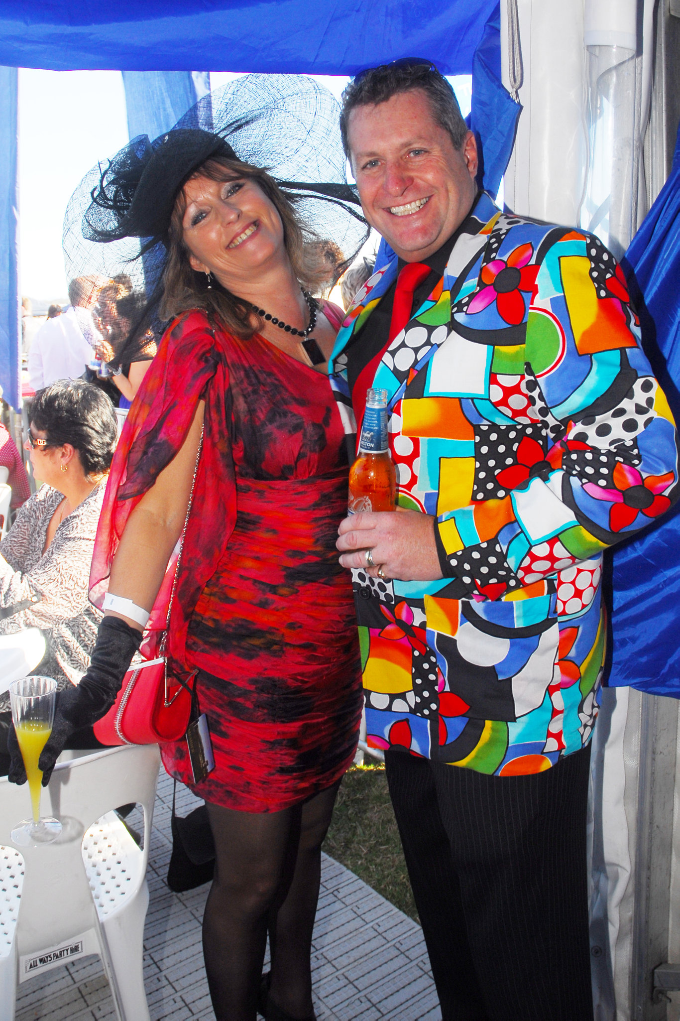 Kerry and Chris Hines at Coffs Harbour Cup Day.