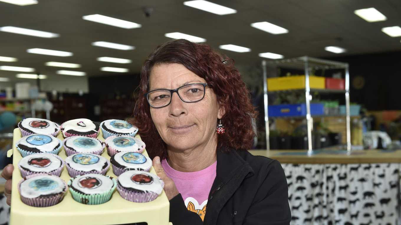 Jenelle Stolberg, volunteer at the RSPCA Op-Shop. RSPCA cupcakes. August 2019