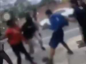 Video shows wild schoolboy brawl at Ipswich shopping centre