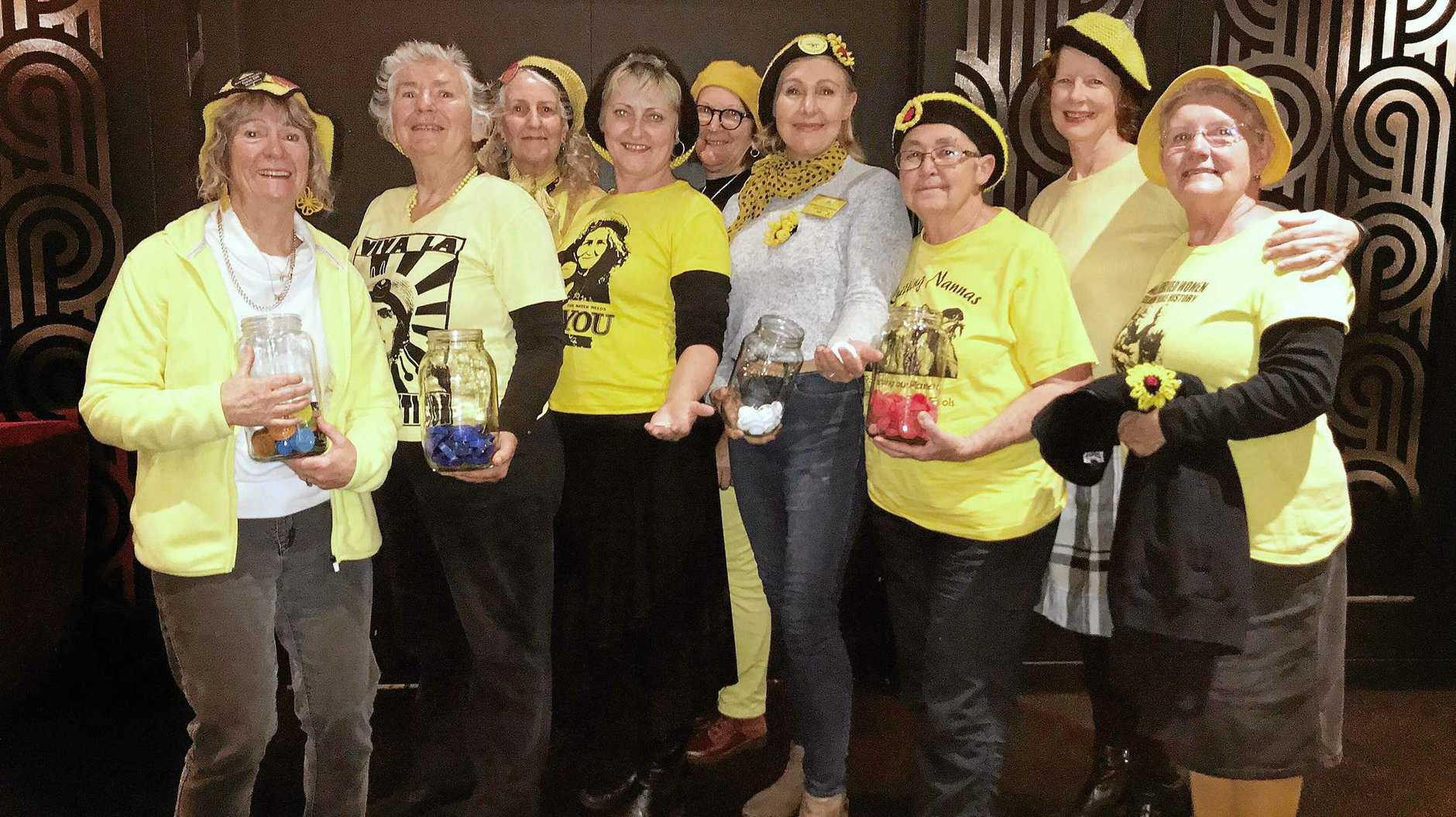 Some of the Northern Rivers Knitting Nannas.