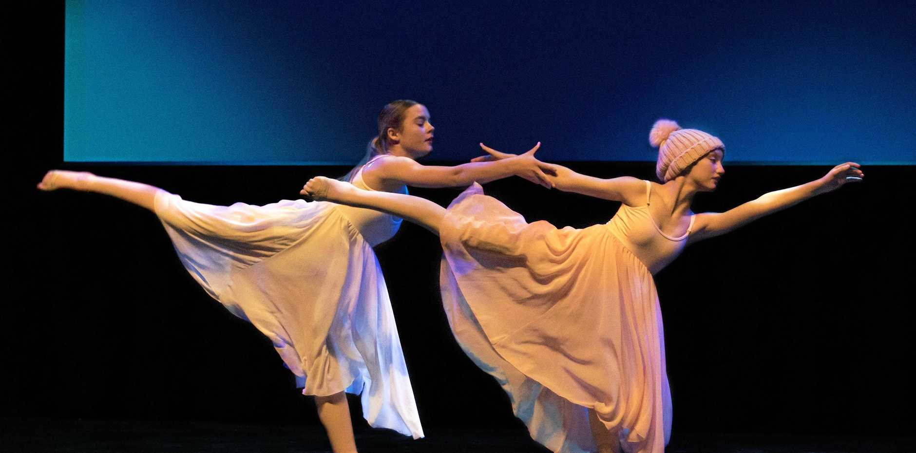 DANCING BACK IN: Year 9 dance duo Alicia Pegg (left) and Briana Sutton will be making a return this year.
