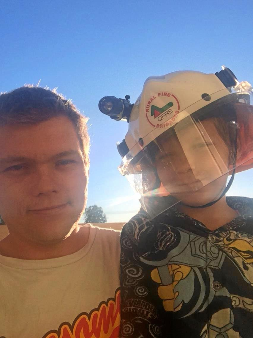 Ashley Barber with his nephew Cody.