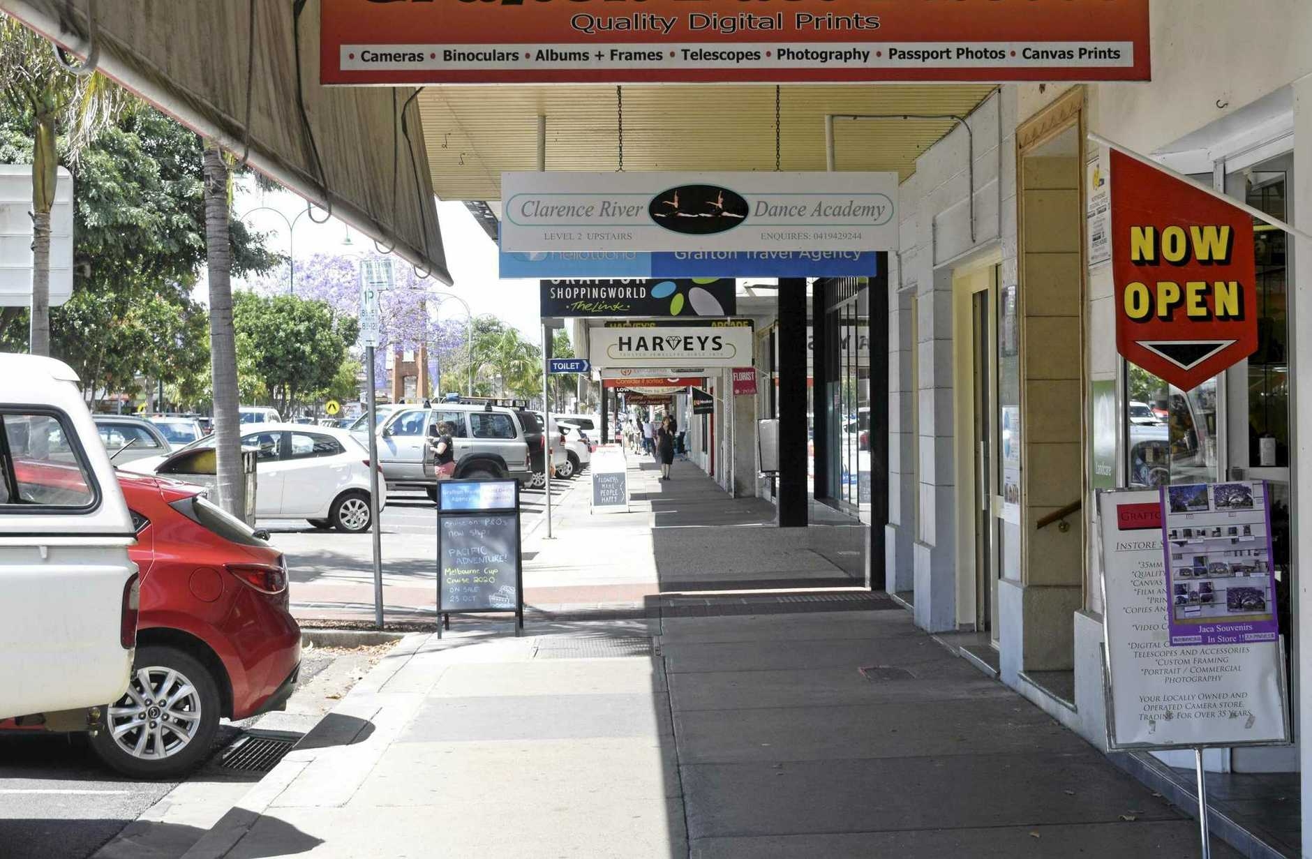 CONCRETE DECISION: Grafton's Prince Street isn't conducive to stopping and staying a while.