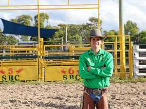 Find out how this student mixes school and fiery bull riding