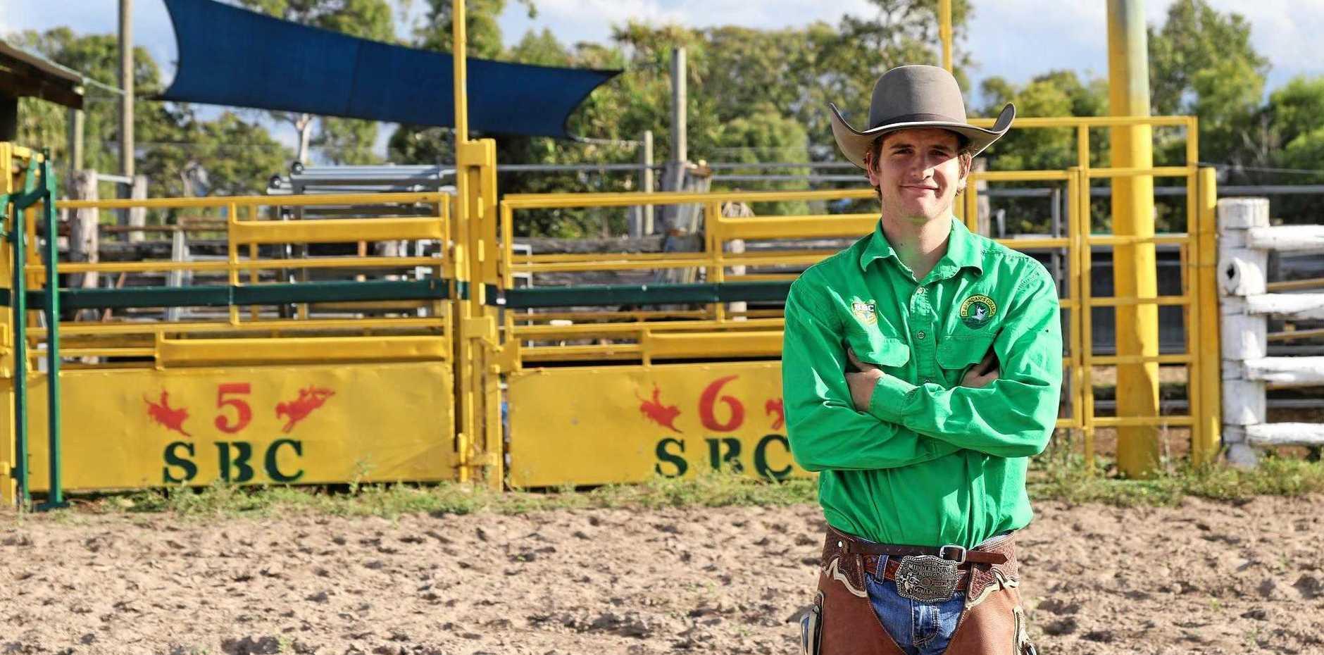 ON THE ROAD(EO): 2019 St Brendan's College Rodeo Captain Logan Beak.