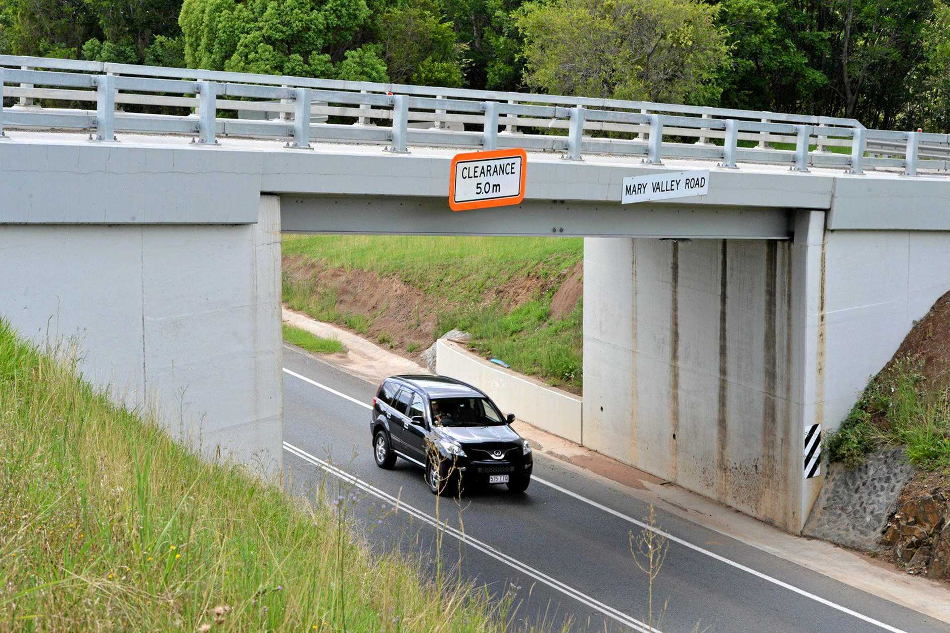 Mary Valley overpass towards Normanby Bridge, Gympie.   Photo Tanya Easterby / The Gympie Times