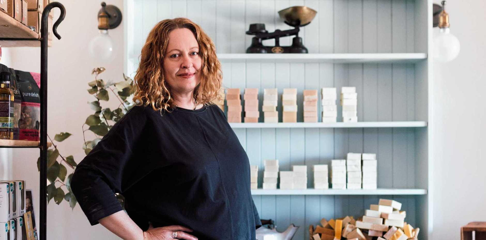 GOT THE SUDS: Washpool Farm Soaperie owner and head soapmaker Melissa Thomas in the store.