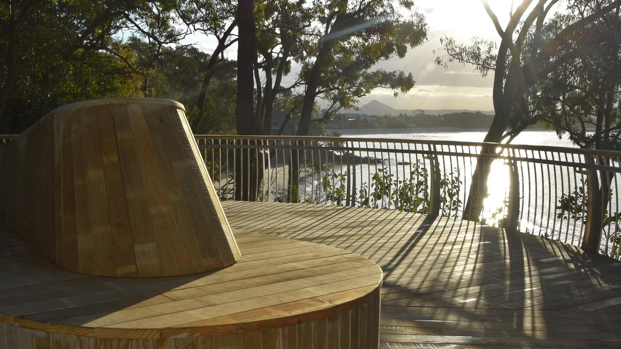 Noosa's Park Road Boardwalk at viewing deck two. Photo: Caitlin Zerafa