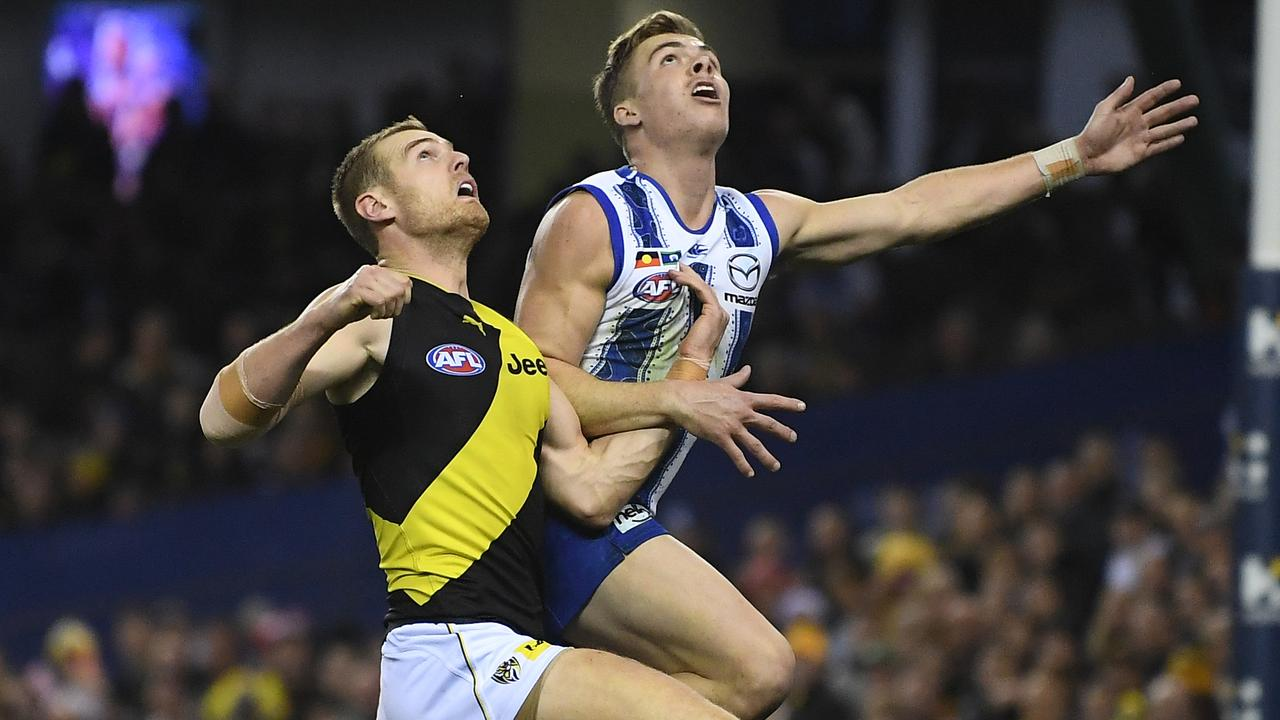 David Astbury has stepped up to help fill the void left by Alex Rance. Picture: AAP Image/Julian Smith.