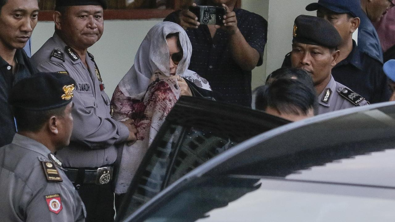 Convicted drug smuggler Schapelle Corby outside the parole office in Bali before she was deported to Australia. There is no suggestion Corby or her other relatives have any involvement in the $90m Queensland bust. Picture: AAP/Johannes Christo