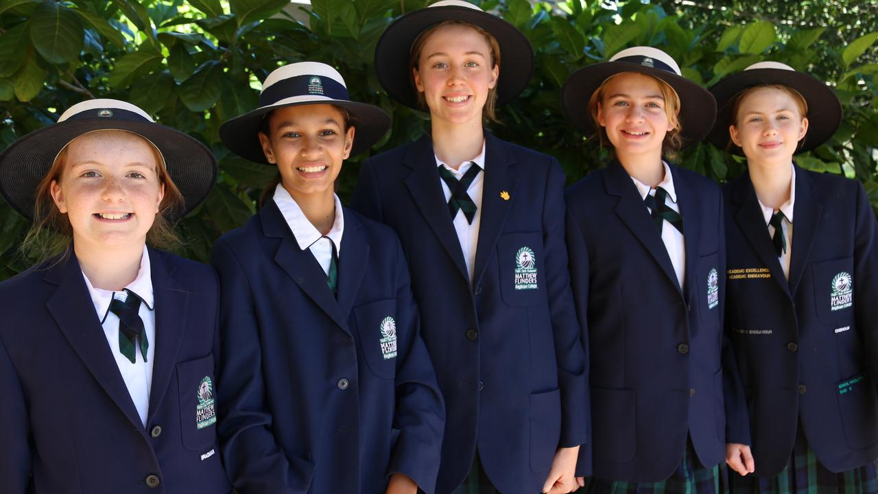 Flinders' Ideas That Make a Difference event team members (from left) Elizabeth Setchell, Sirana McGill, Zoe McKenzie, Bianca Elms and Ava Rousell.