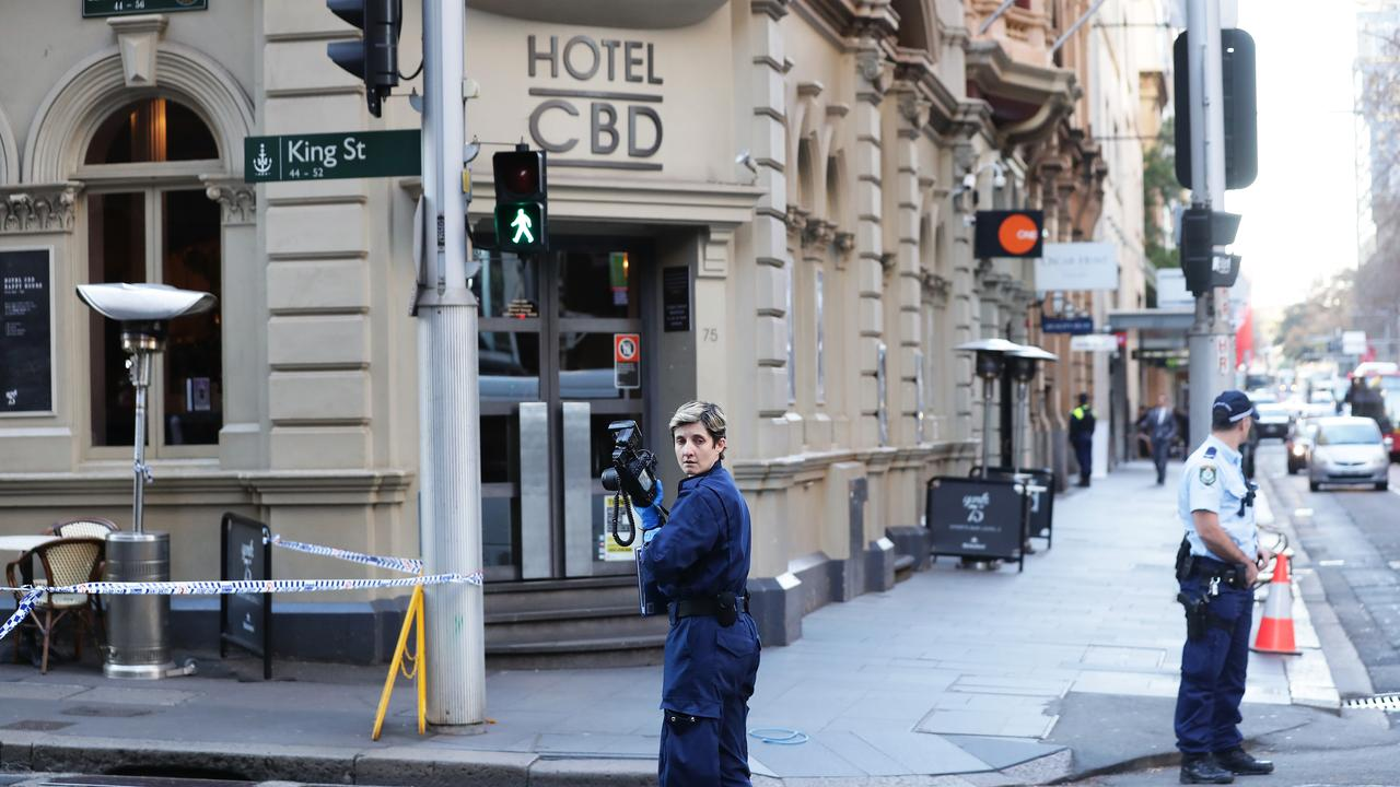 The Hotel CBD where a woman was stabbed in the back allegedly by Ney. Picture: Matt King