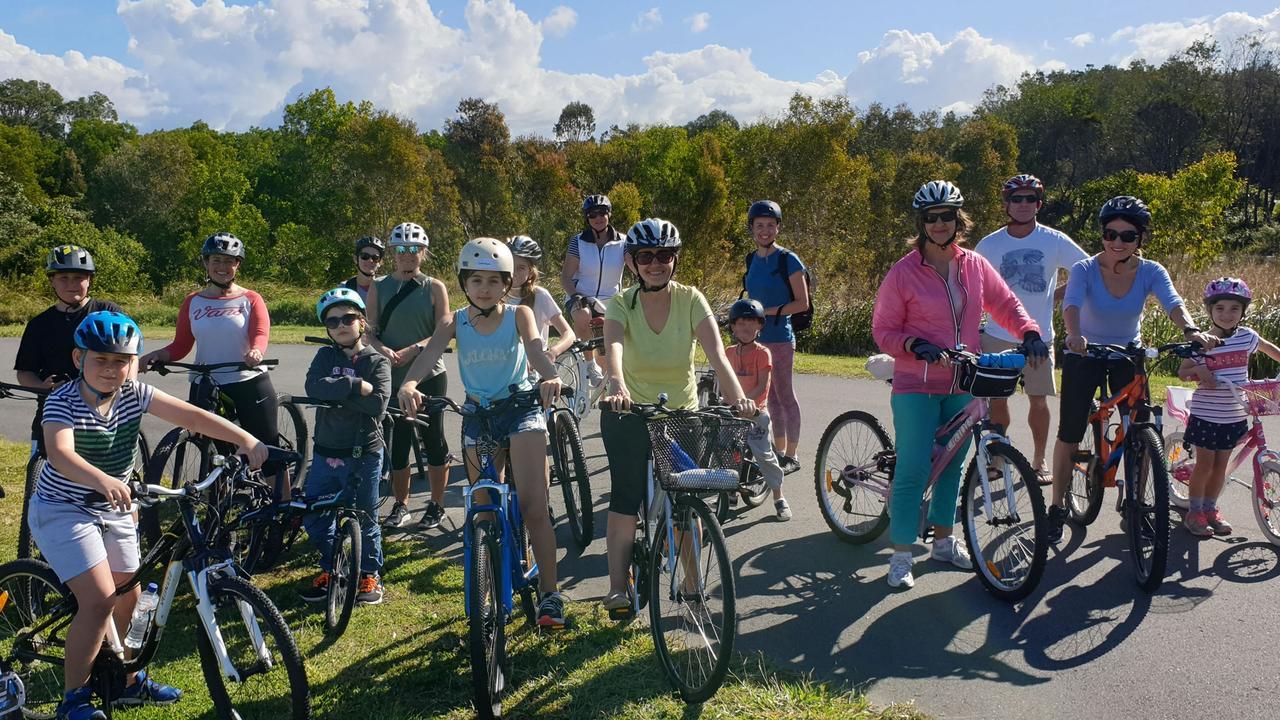 CYCLING: Families enjoying Bike On's free cycling workshops.