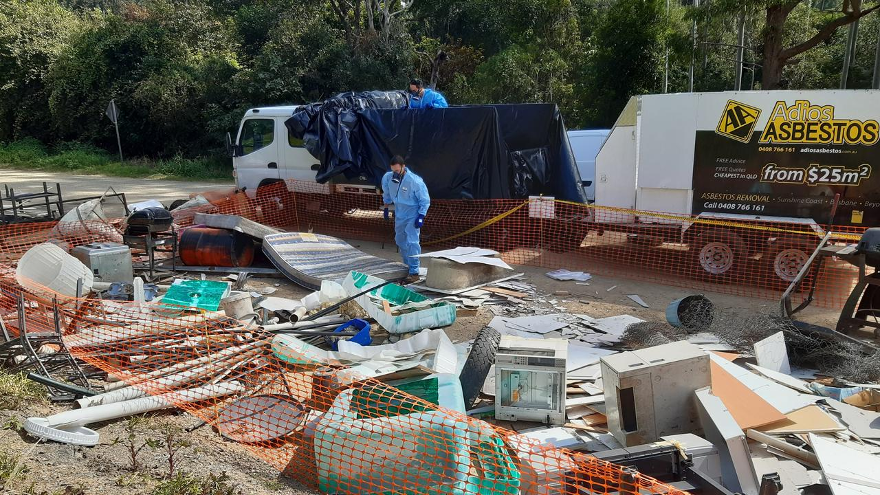 Specialist removalists called in to remove asbestos found at Kin Kin.