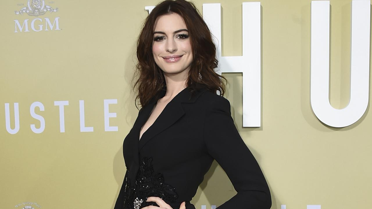 Hathaway at the LA premiere of The Hustle. Picture: Jordan Strauss/Invision/AP