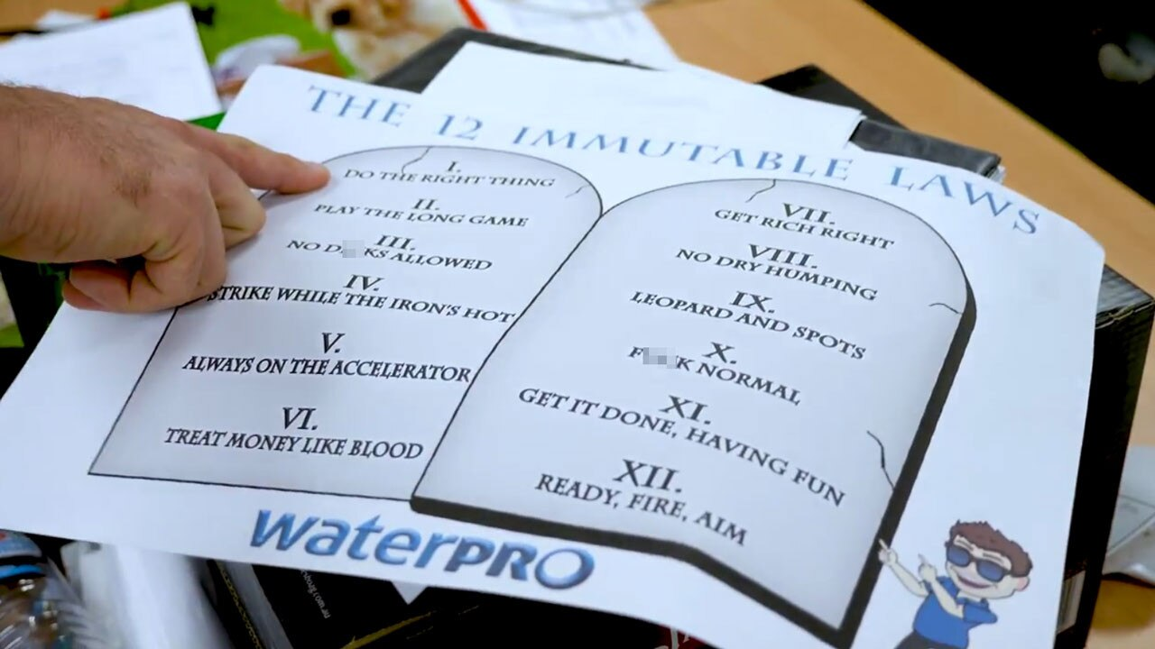 "Waterpro's ""12 Immutable Laws"""