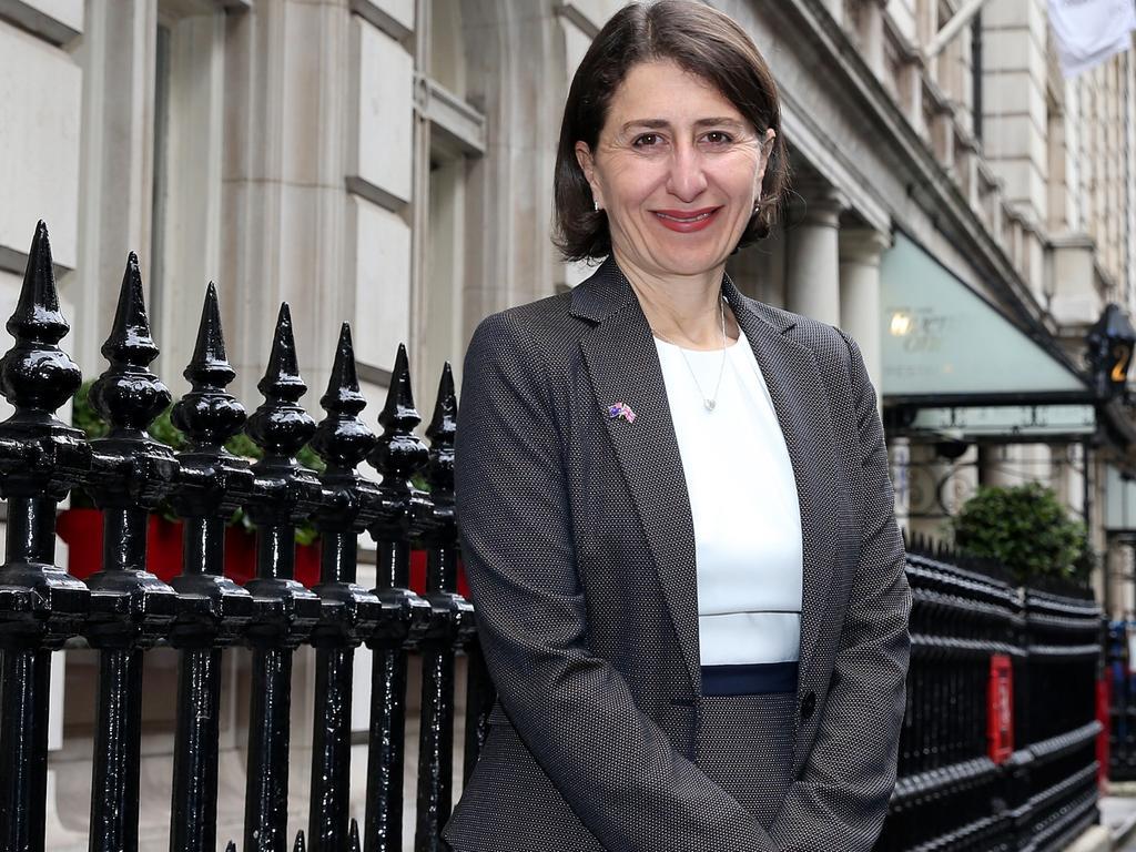 NSW Premier Gladys Berejiklian in London. Source: NSW Premier's Office