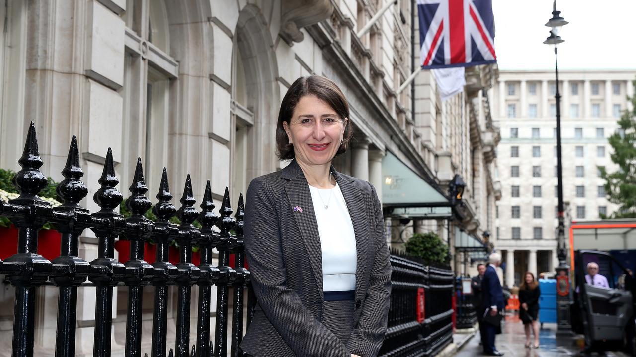 NSW Premier Gladys Berejiklian in London on Monday. Picture: NSW Premier's Office