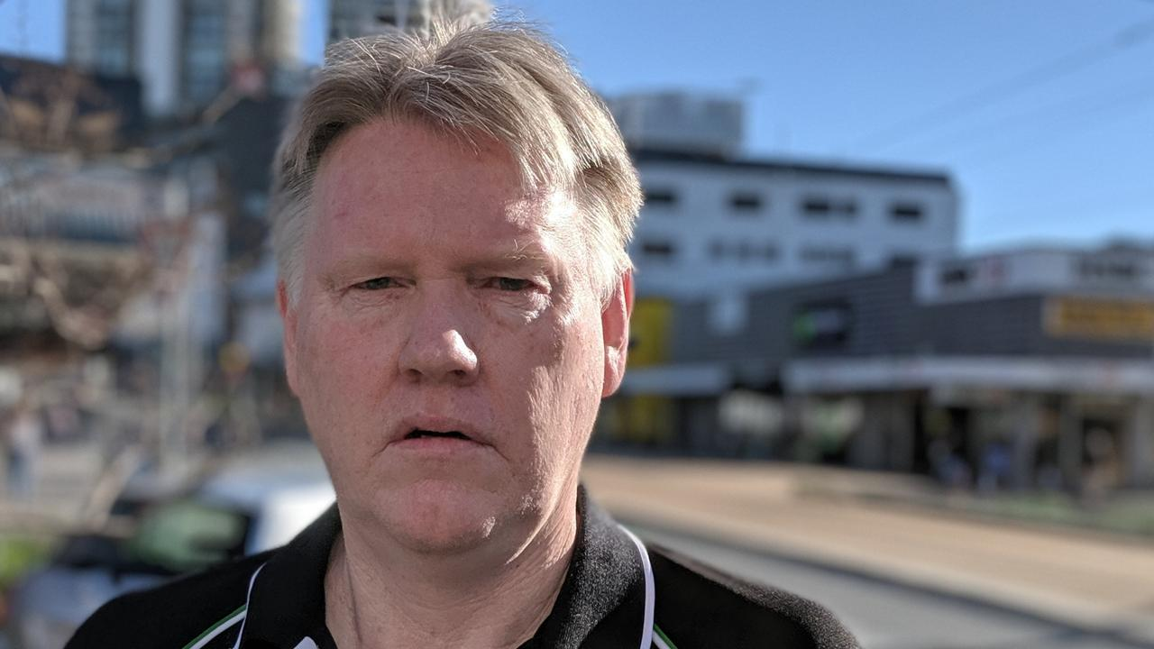 Dale Anderson spoke for many when he expressed frustration about the problems of drunk and drug-addicted people hanging around in the Southport CBD. Picture: Luke Mortimer.